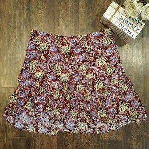Free People Wrap Flutter Boho Floral Skirt 8